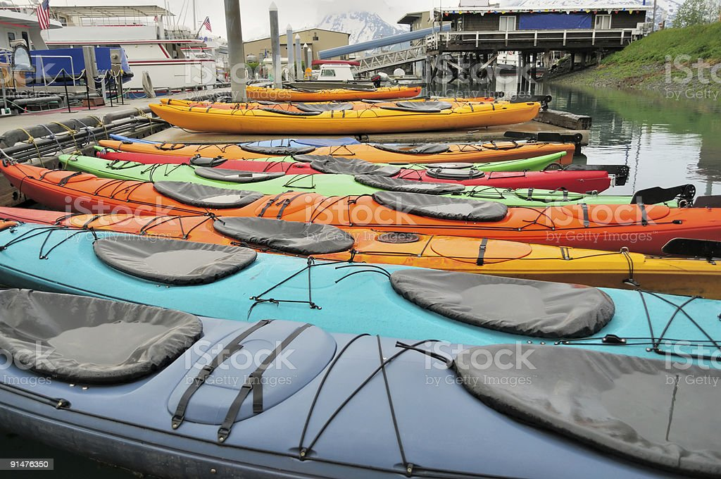 Valdez Kayaks stock photo