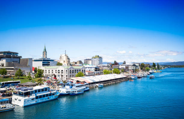 Valdivia view from the river stock photo