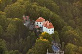 istock Valdstejn Castle in the Bohemian Paradise from above 1083392686