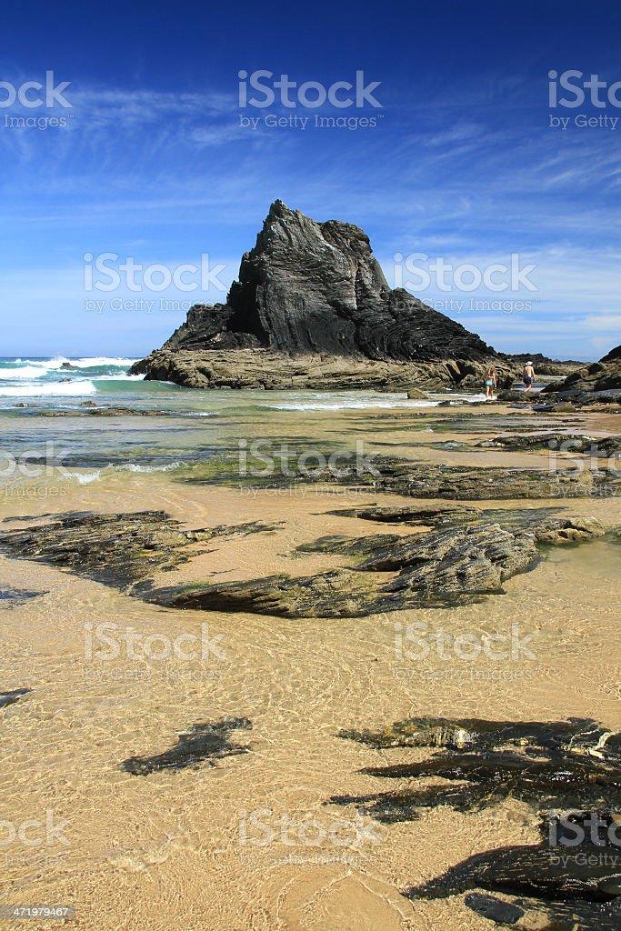 Vale dos Homens beach stock photo
