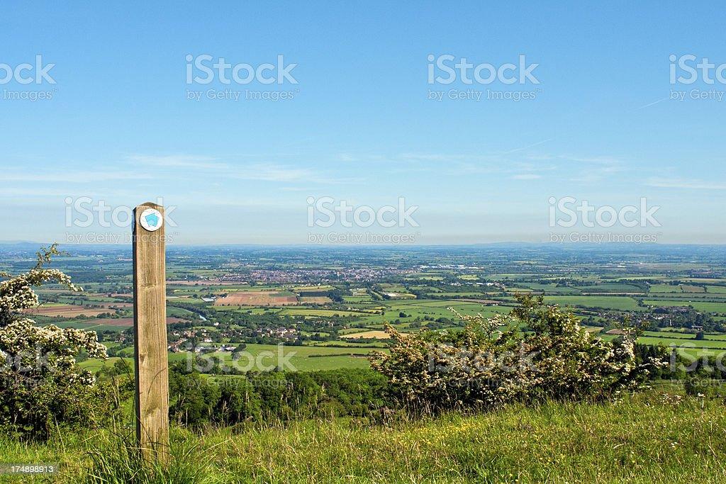 Vale of Evesham, Cotswold Way, Worcestershire royalty-free stock photo
