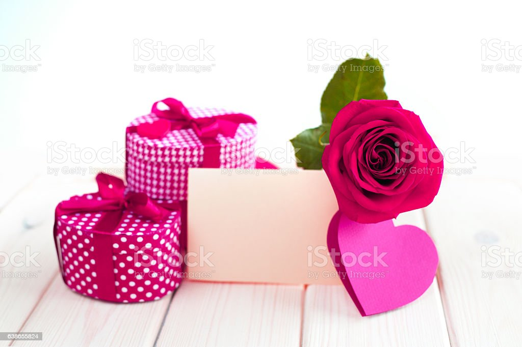 Valeintines day gift stock photo