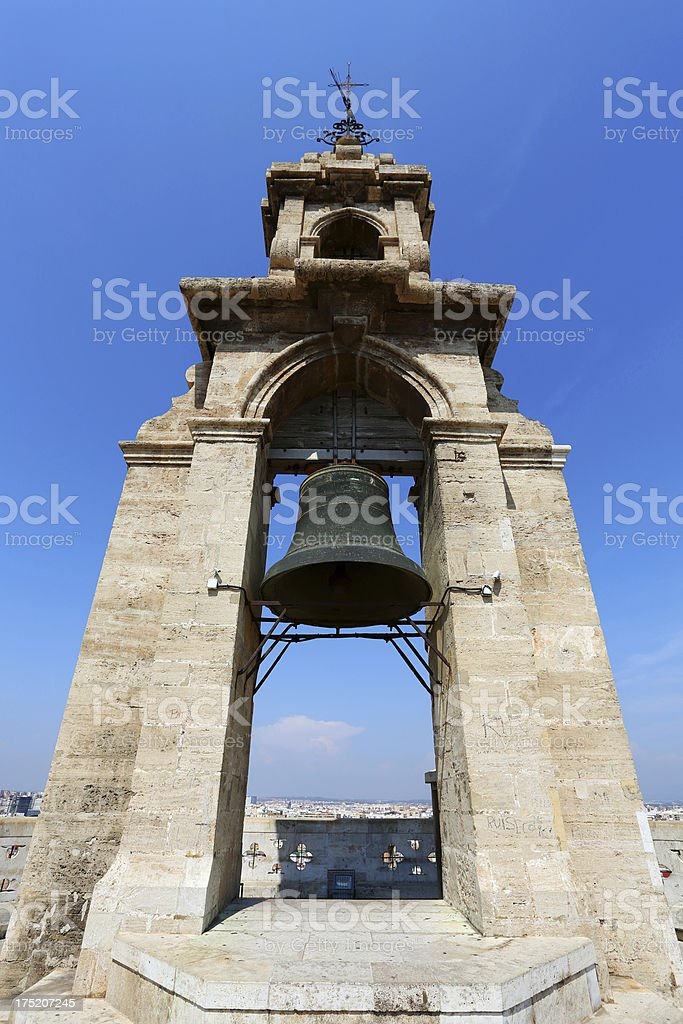 Valencia Cathedral bell tower stock photo