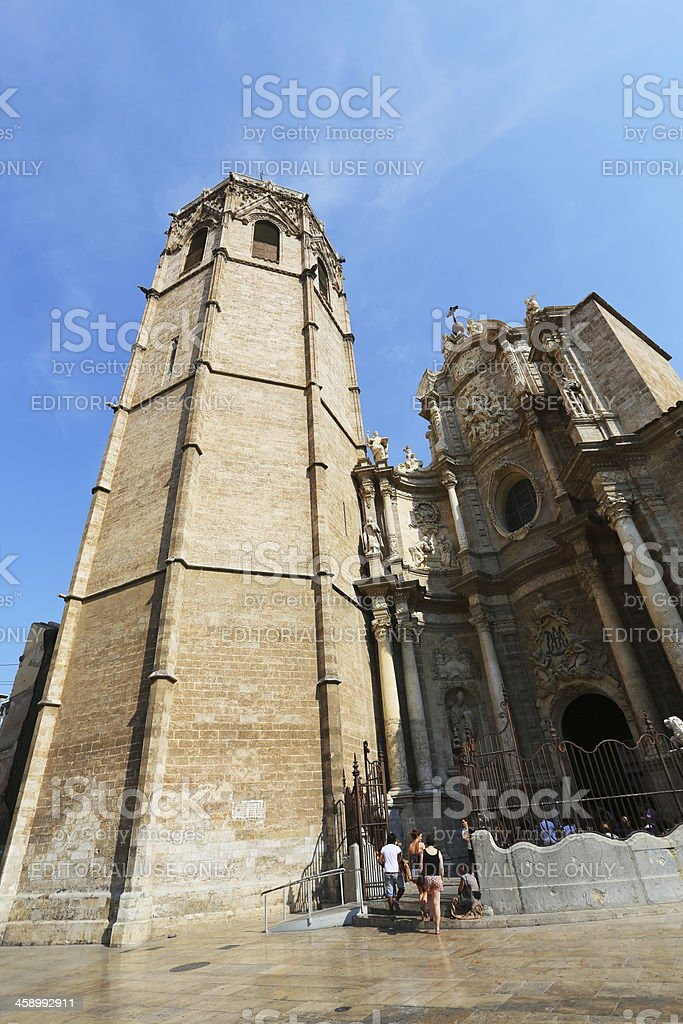 Valencia Cathedral stock photo