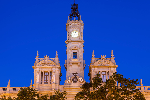 Valencia City Hall on Plaza del Ayuntamiento in Valencia