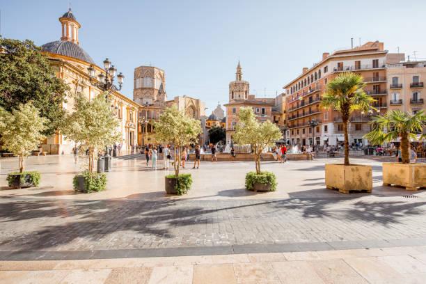 valencia stad in spanje - valencia stockfoto's en -beelden