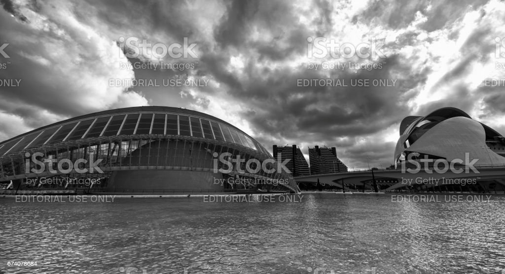 Valencia (Spain), City of Arts and Sciences foto de stock royalty-free