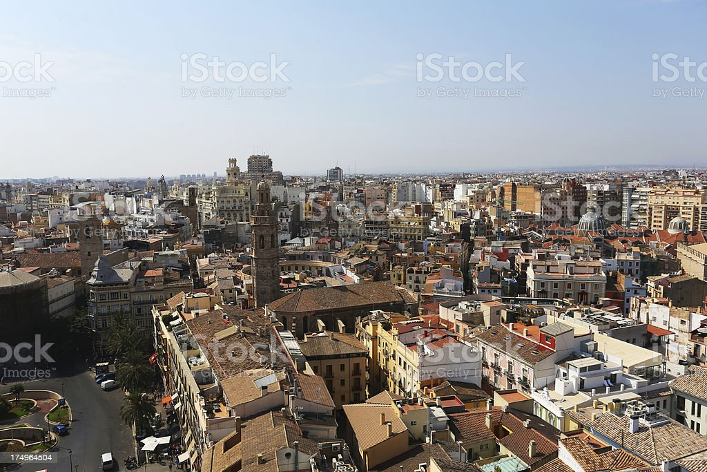 Valencia cityscape stock photo