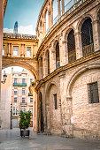 Valencia corridor arch between Cathedral and Basilica Spain.