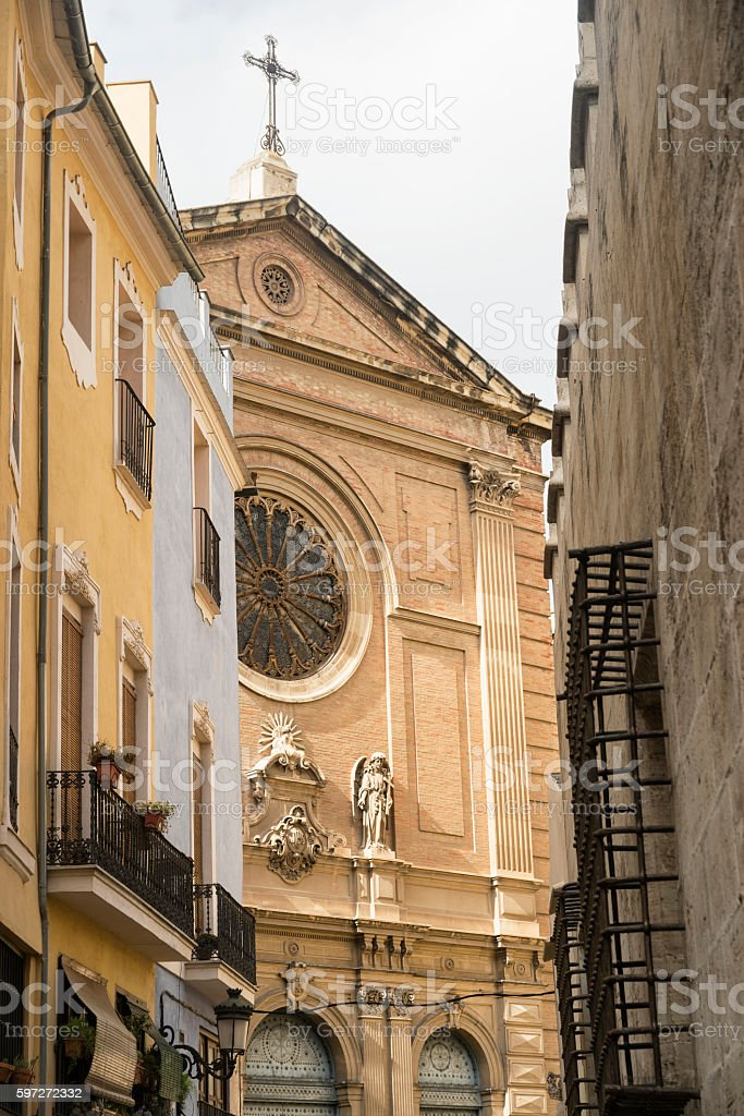 Valencia (Spain), historic church royalty-free stock photo