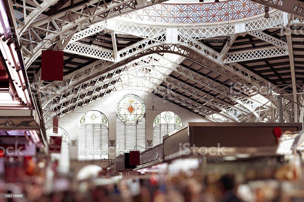 Valencia market tilt  and shift royalty-free stock photo