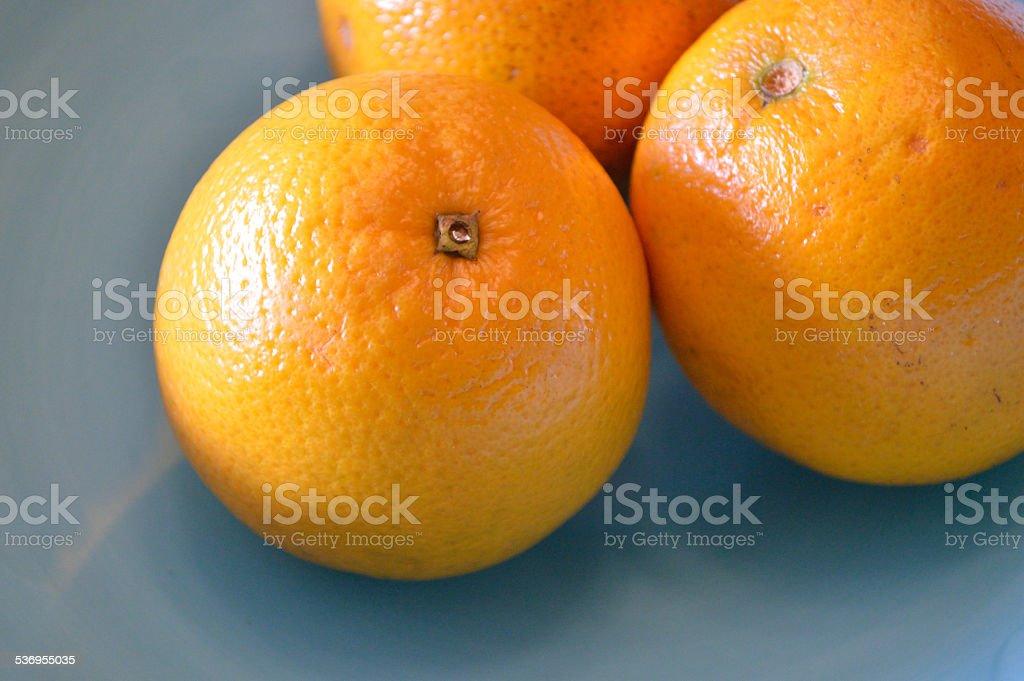 Valencia oranges closeup stock photo