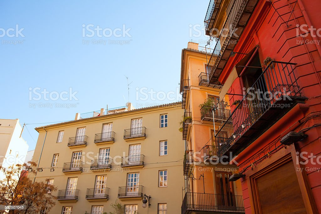 Valencia Placa Plaza del Tossal in Barrio del Carmen stock photo