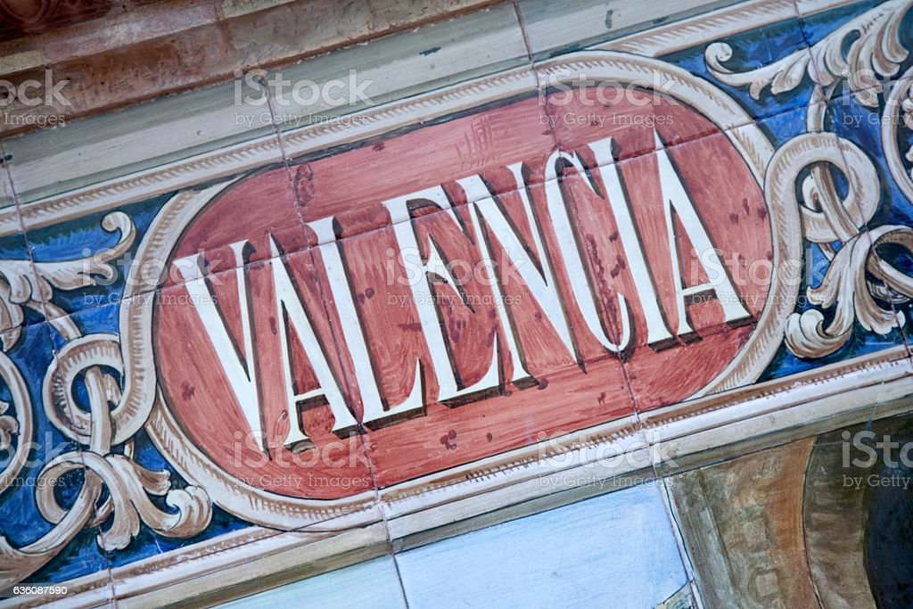 Valencia, Plaza de Espana; Seville stock photo