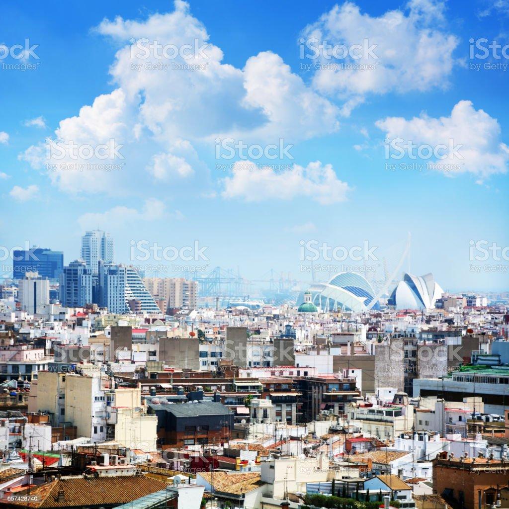 Valencia Skyline stock photo