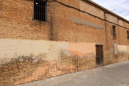 Valencia, Spain - 07/17/2020: The trendy hipster seaside neighborhood of El Cabanyal.