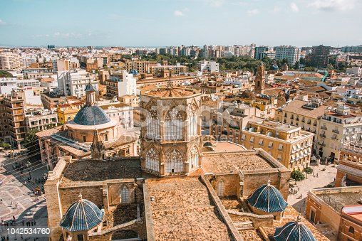Valencia, Spain, as seen from Miguelete Tower