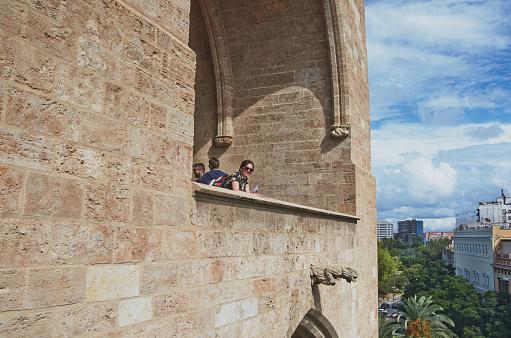 Valencia, Spain, September, 08, 2015, Gargoyles from towers Serranos, editorial.
