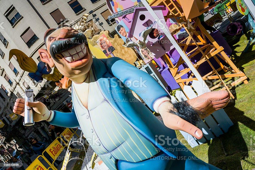 Valencia, Spain, The Fallas Festival photo libre de droits