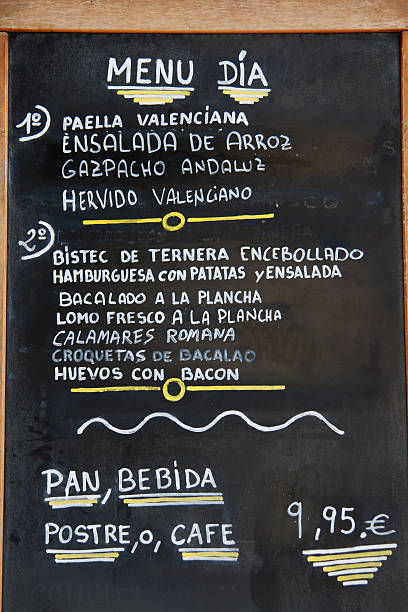 Valencia - Spanish Menu Del Dia stock photo