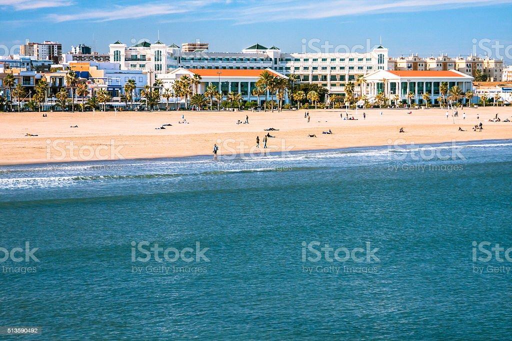 Valencian Beach stock photo