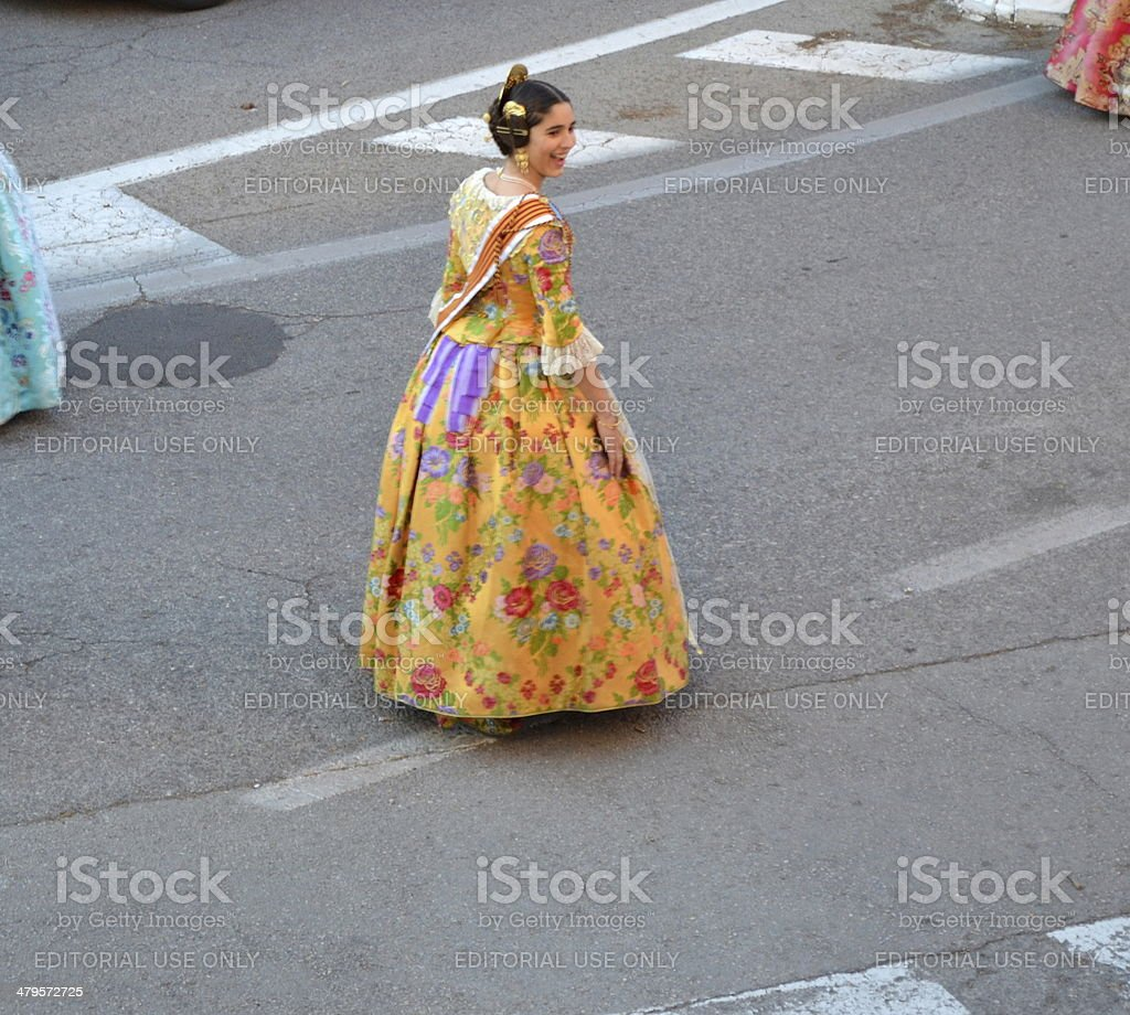 Fallas Valenciana stock photo