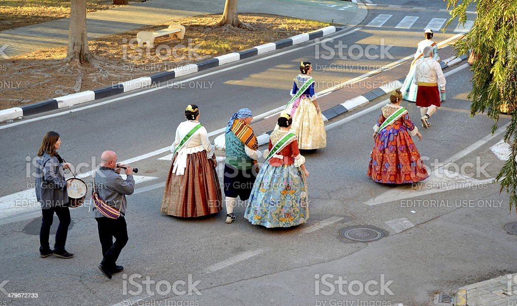Valencian Traditional Celebration, Fallas stock photo