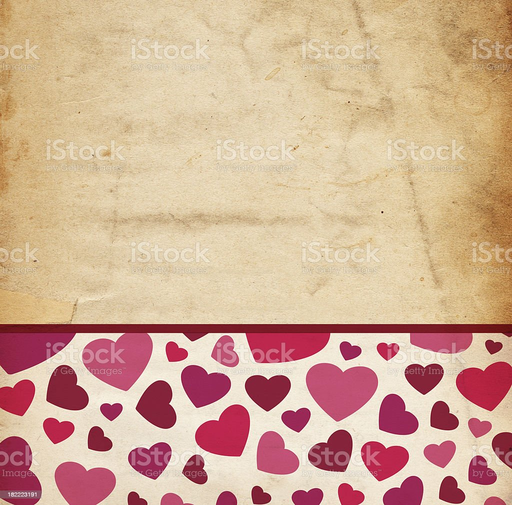 Valentine Background; XXXL Hearts royalty-free stock photo