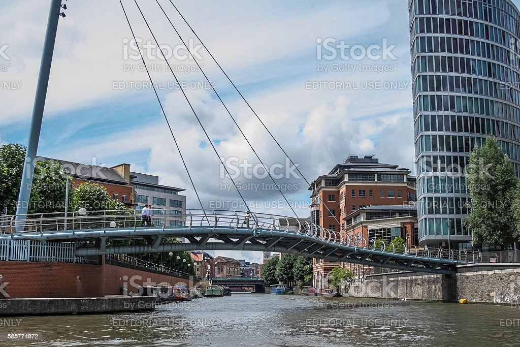 Valentine Bridge,  Bristol, UK stock photo