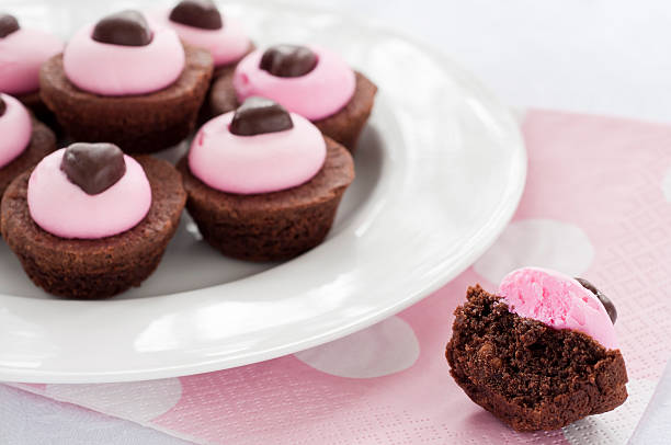 Valentine Brownies stock photo