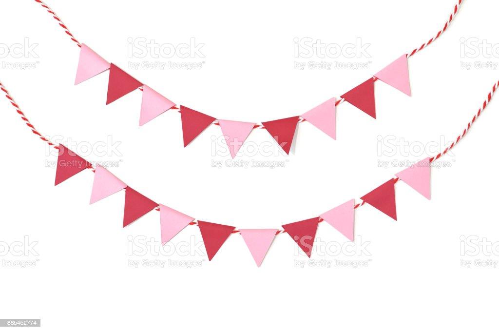 San Valentín Escribano papel cortado sobre fondo blanco - foto de stock