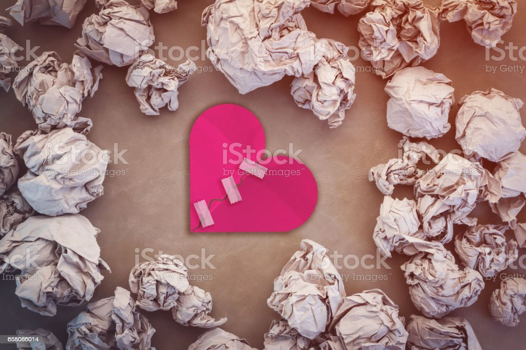 valentine card background with heart shape paper cut royalty-free stock photo