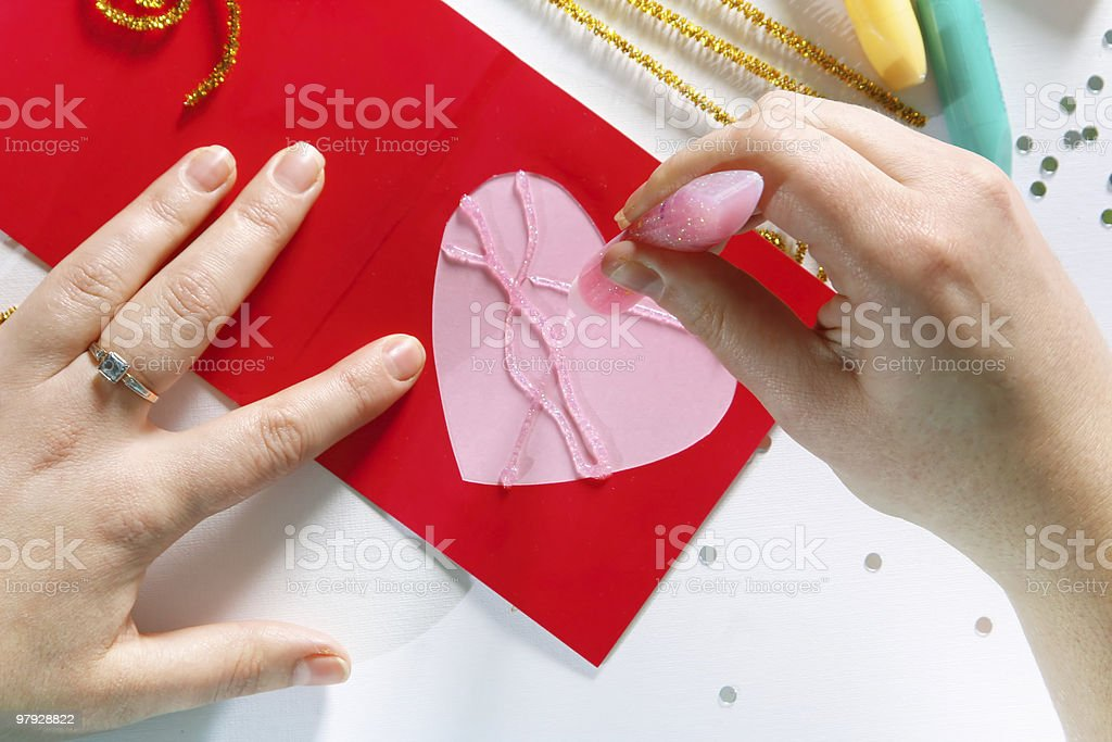 Valentine color card royalty-free stock photo