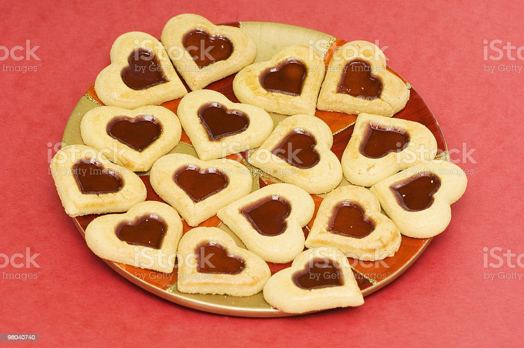 Cookie di San Valentino foto stock royalty-free