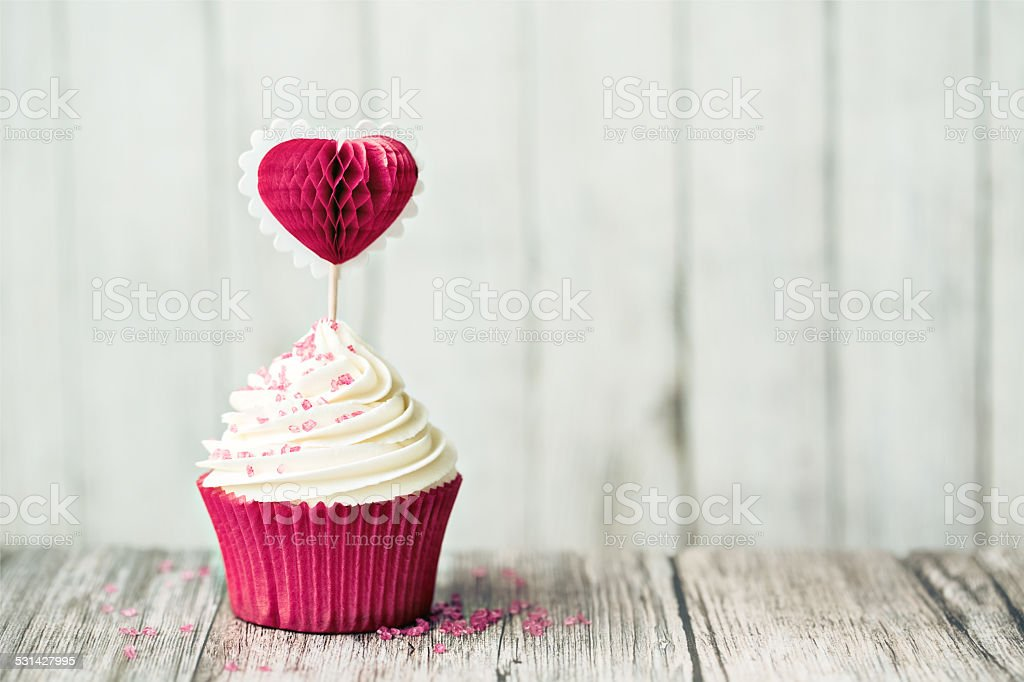 Valentine cupcake stock photo