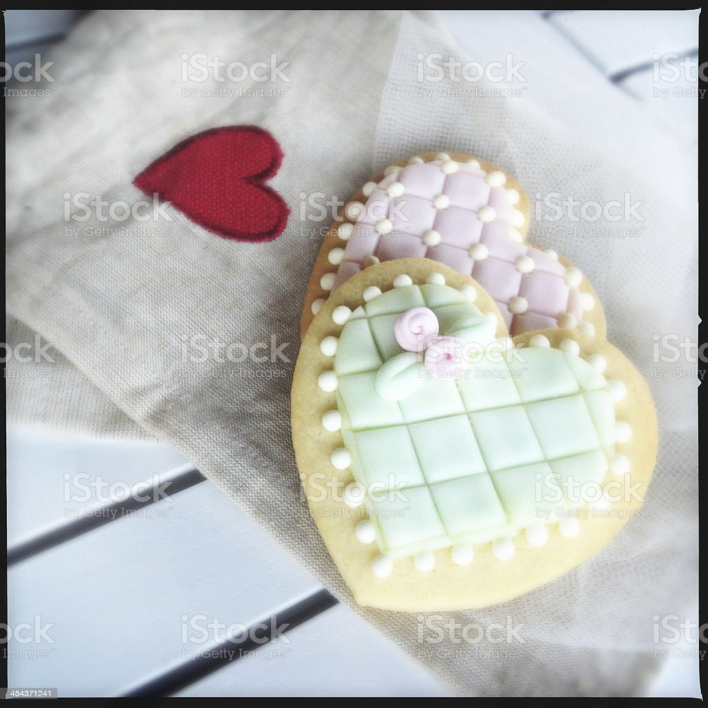 Valentine Day biscuits royalty-free stock photo