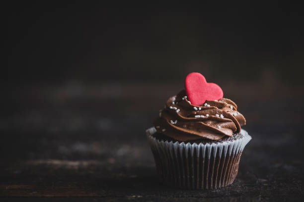 Valentine day cupcakes stock photo
