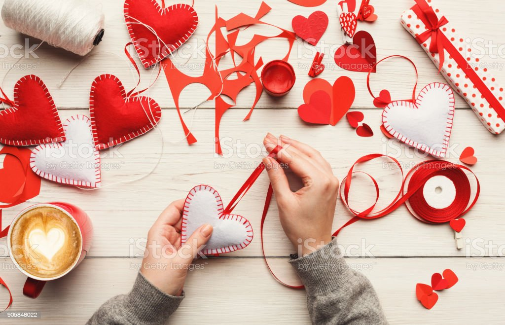 Valentine Day Handmade Gifts Background Stock Photo More Pictures