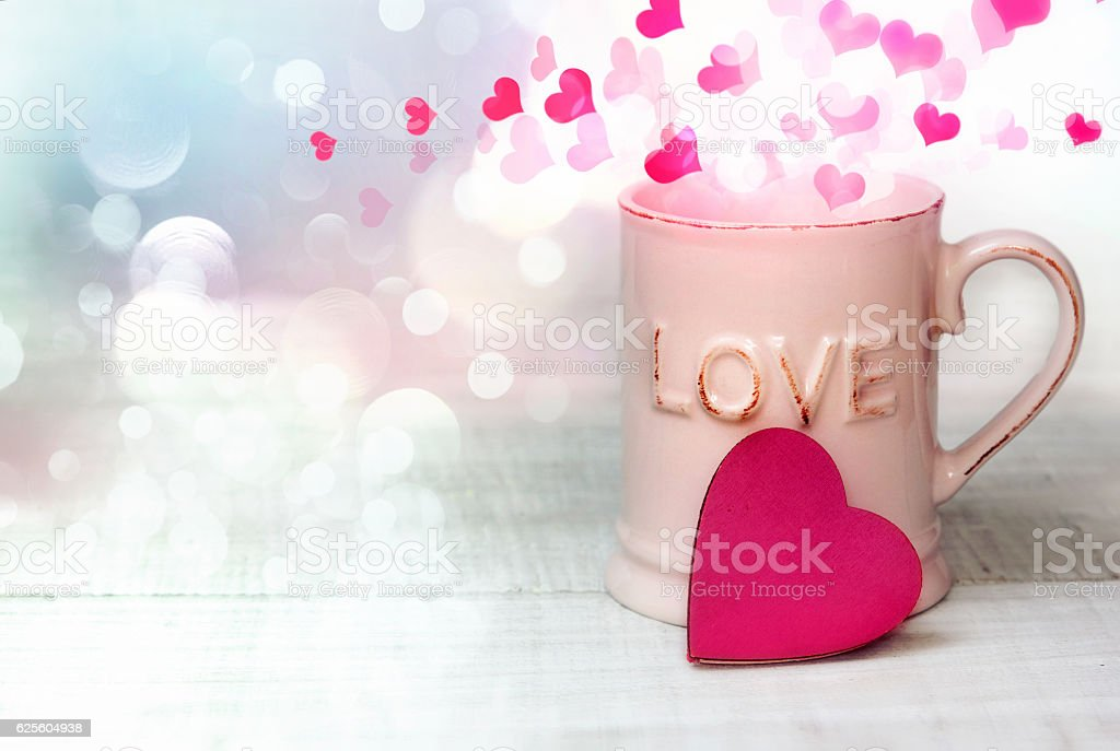 Valentine day mothers day greeting card background. stock photo