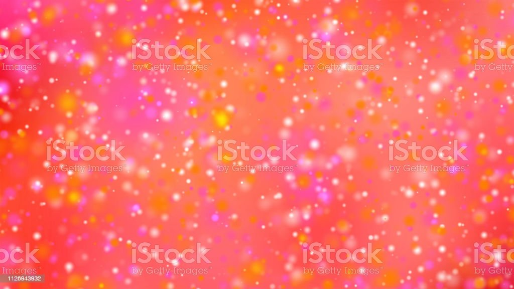 Valentine Day Or Christmas Background With Bokeh Glitter And