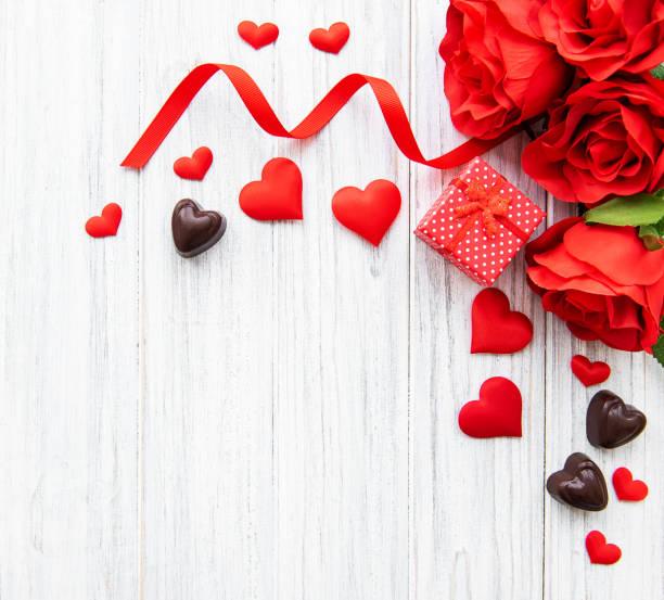 발렌타인 하루 로맨틱 배경 - 발렌타인 카드 뉴스 사진 이미지