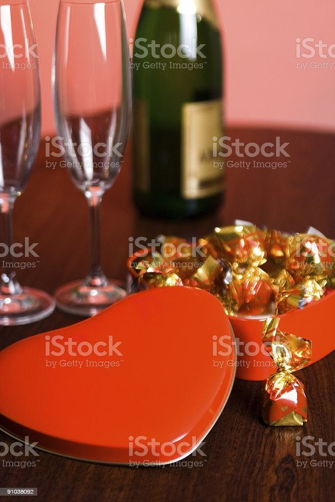 Valentine day sweet box