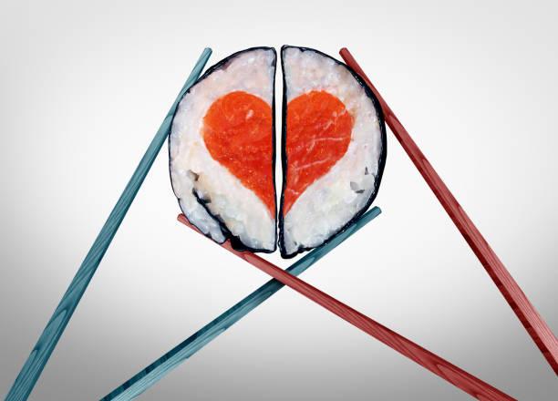 alla hjärtans middag för två - sushi bildbanksfoton och bilder