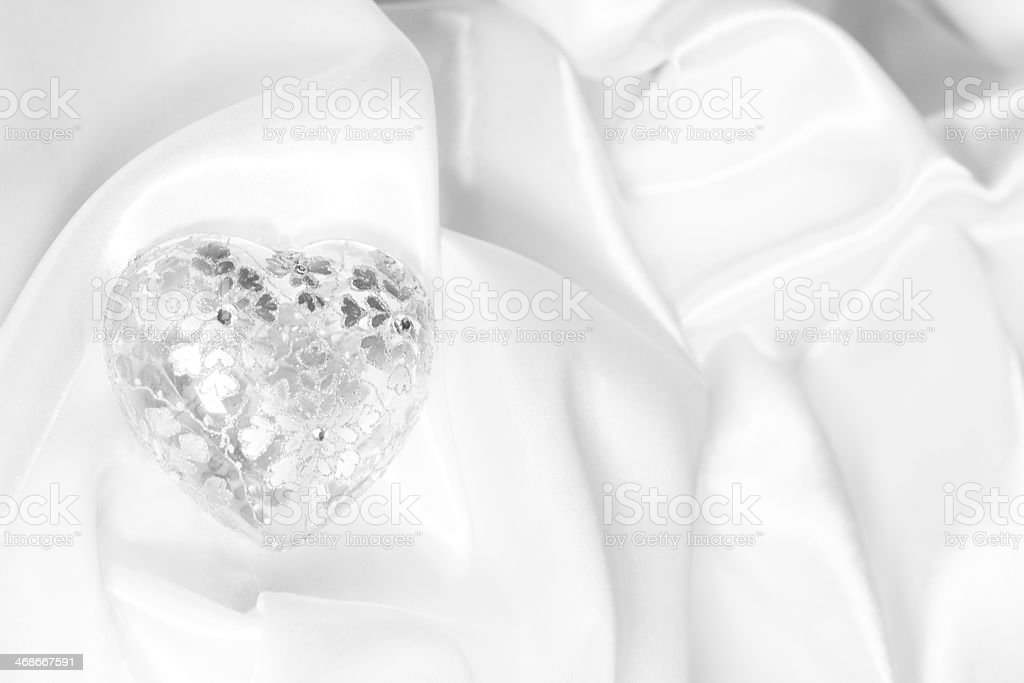 Valentine Gift On Silk Background Stock Photo More Pictures Of