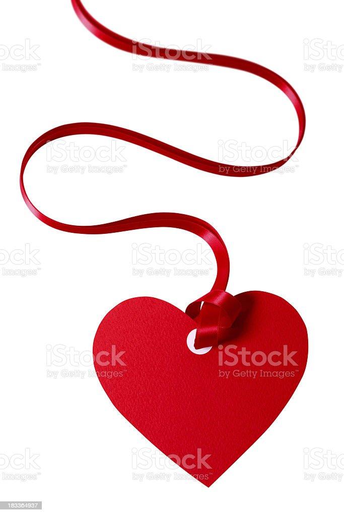 Valentine gift tag royalty-free stock photo