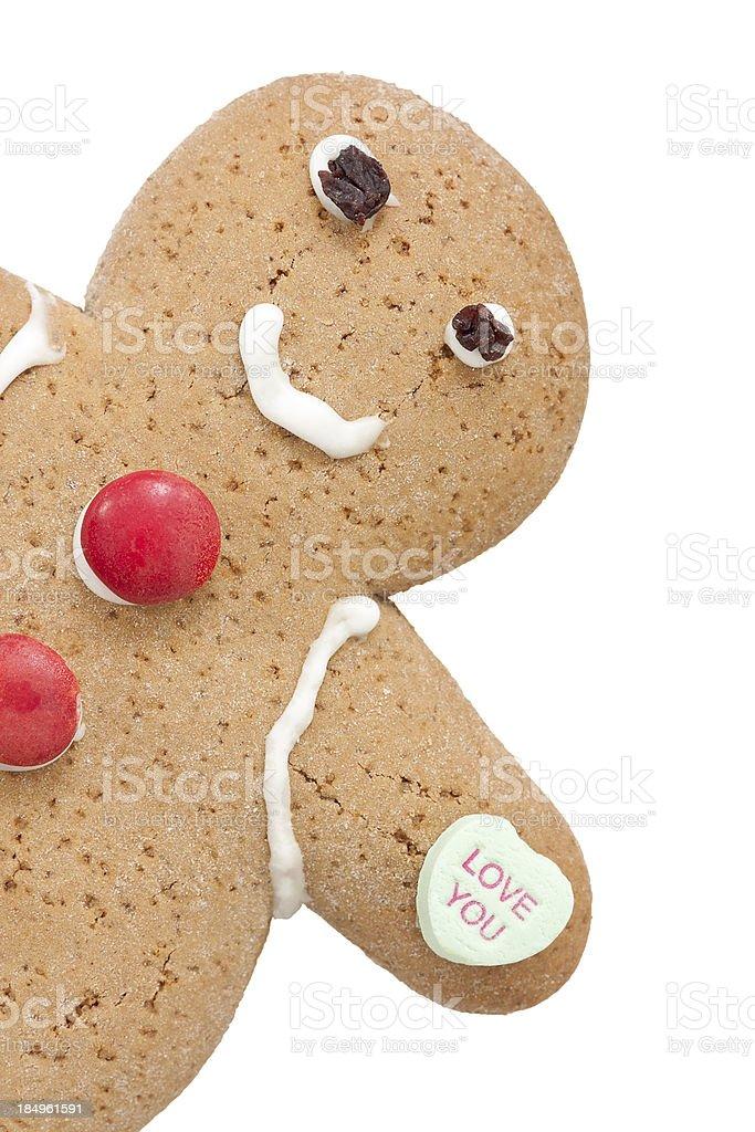 Valentine Gingerbread Boy royalty-free stock photo