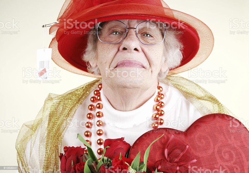 Valentine Granny royalty-free stock photo