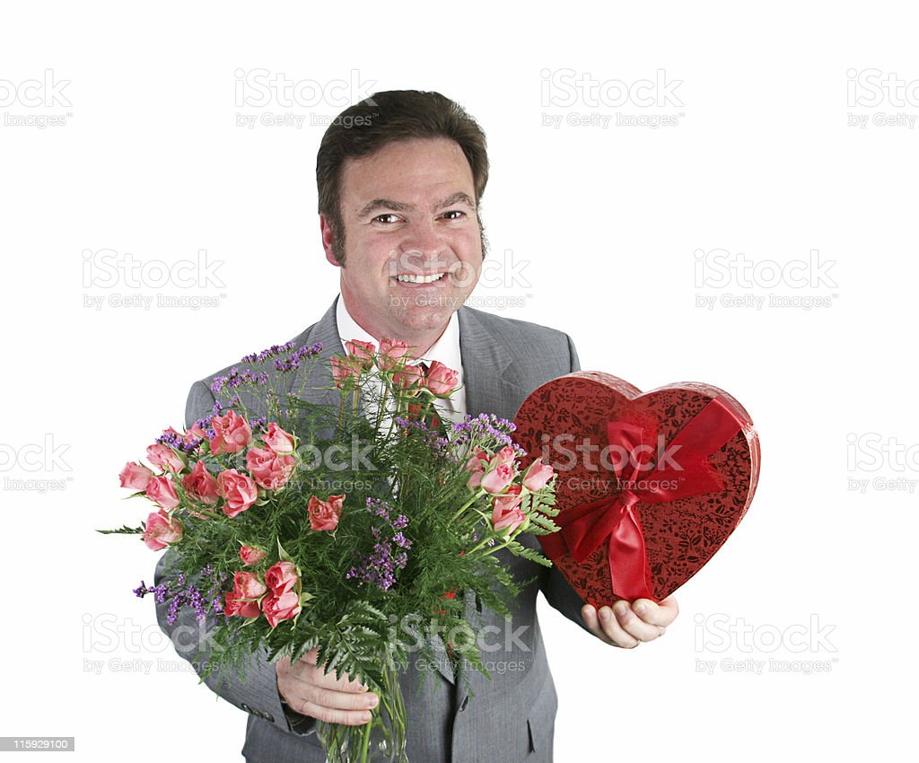 Valentine Guy - Hearts & Flowers royalty-free stock photo