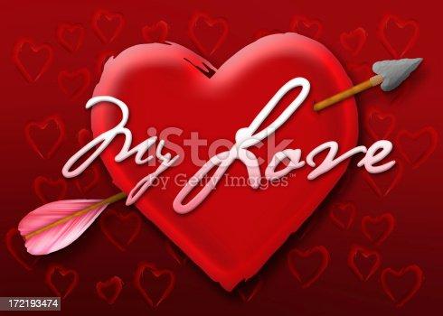 181132670 istock photo Valentine Heart - My Love 172193474