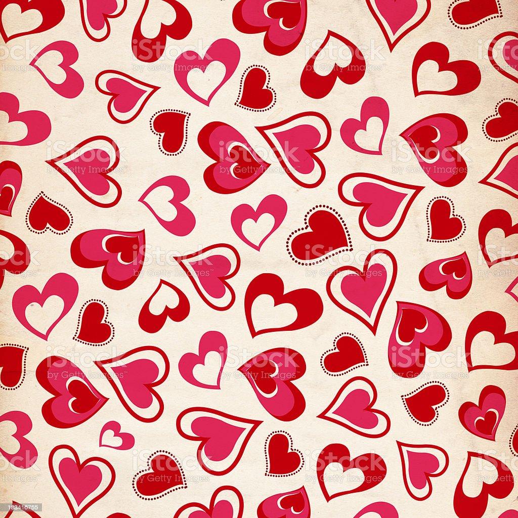 Valentine Heart Paper Background - XXXL royalty-free stock photo